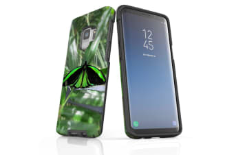 For Samsung Galaxy S9 Case Armour Cover  Green Butterfly