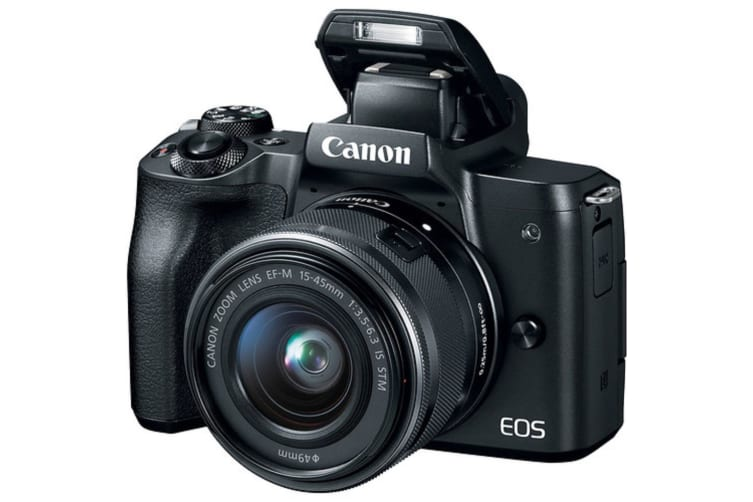 Canon EOS M50 Mirrorless Digital Camera with 15-45mm Lens - Black