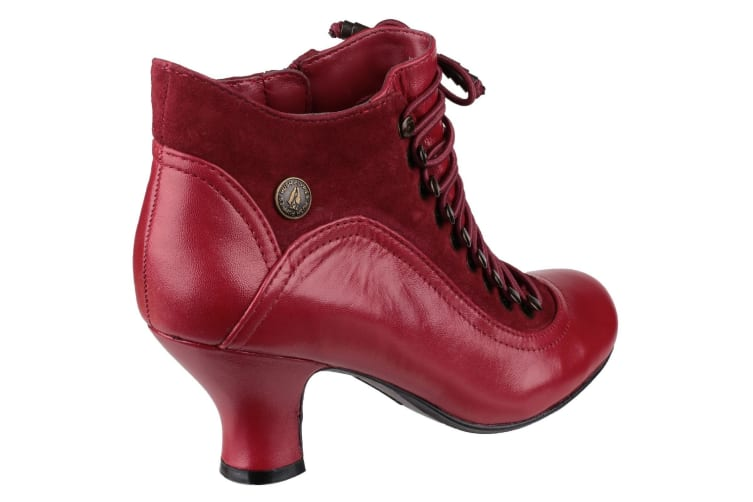 Hush Puppies Womens/Ladies Vivianna Lace Up Boots (Red) (8 UK)