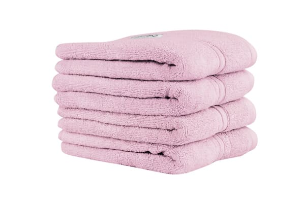 Onkaparinga Ethan 600GSM Hand Towel Set of 4 (Rose)