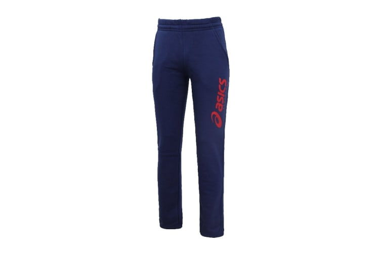 ASICS Men's Cuffed Knit Pants (Blue, Size L)