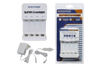 4 cell automatic quick charger for 1 to 4 AA or AAA NiMH cells