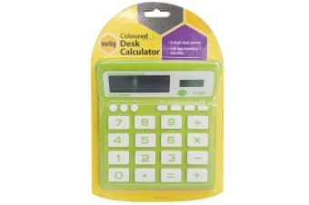Marbig Coloured Desk Calculator Green