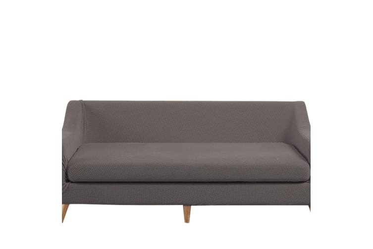 Dreamz Couch Sofa Base & Seat Cover Stretch Protector 4 Seater Chocolate New