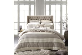 Aztec Linen Quilt Cover Set Queen by Private Collection