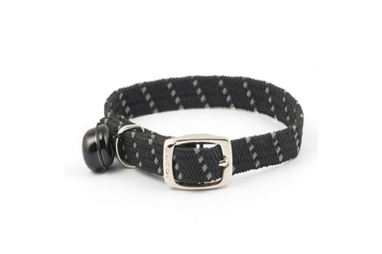 Ancol Softweave Cat Collar (Black) (One Size)