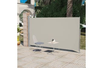 vidaXL Patio Terrace Side awning 160 x 300 cm Cream Colour