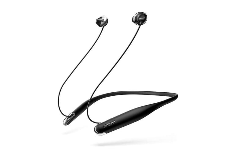 Philips Flite Wireless Bluetooth In-Ear NeckBand Headphones with Mic (SHB4205BK)