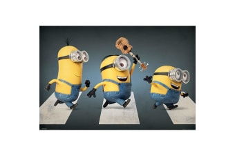 Despicable Me Minion Abbey Road Poster (Multicoloured) (61cm x 91.5cm)