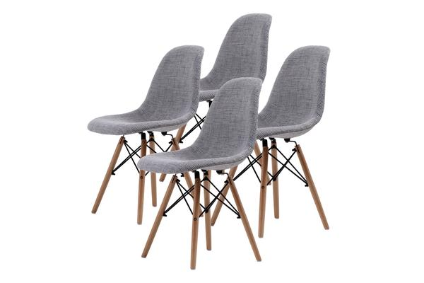 Replica Eames DSW Dining Chair - GREY X4