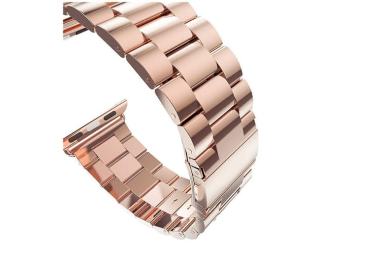 Watch Band,Stainless Steel Iwatch Strap Replacement Wristwatch Bracelet For Apple Watch Series 4 Rose Gold 40Mm