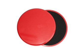 Core Sliders Gliding Discs Exercise Gym Fitness Foam Circle Pad Pair Red
