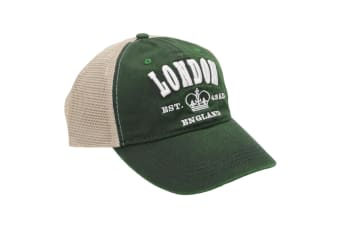 Nvolved Unisex Adults London 6 Panel Mesh Baseball Cap (Forest)