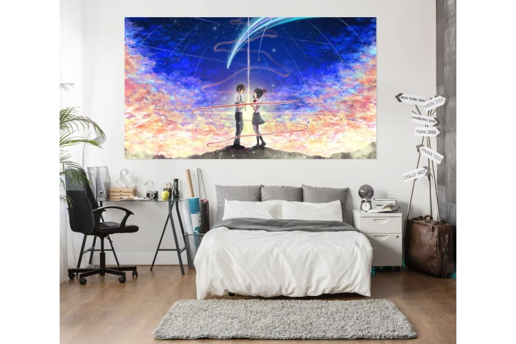 3D Your Name 746 Anime Wall Stickers Self-adhesive Vinyl, 110cm x 110cm(43.3'' x 43.3'') (WxH)