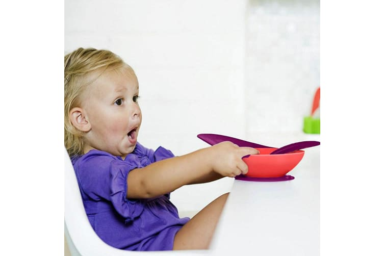 Boon Catch Baby Toddler Feeding Bowl Food Spill Catcher w/ Suction Pink/PP 9m+