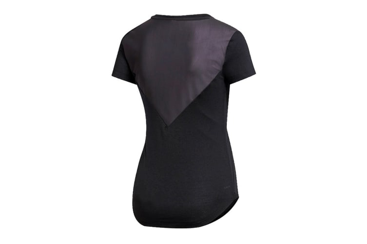 Adidas Women's Prime Mix Tee (Black, Size XS)