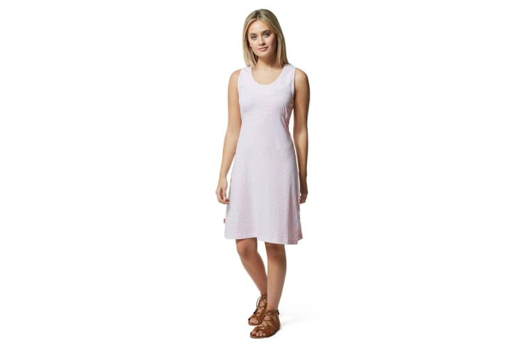 Craghoppers Womens/Ladies NosiLife Sienna Dress (Rosette Pink Print) (12 UK)