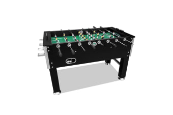 5FT Soccer Foosball Table Heavy Duty for Pub Game Room with Drink Holders, Black