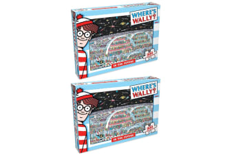 2x 300pc Where's Wally In The Future Jigsaw Puzzle Educational Kids/Child Toy