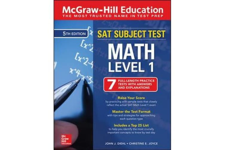 McGraw-Hill Education SAT Subject Test Math Level 1, Fifth Edition
