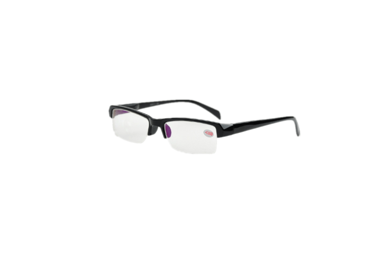 Shortsighted Glasses Half-Frame Myopia Glasses Black -300