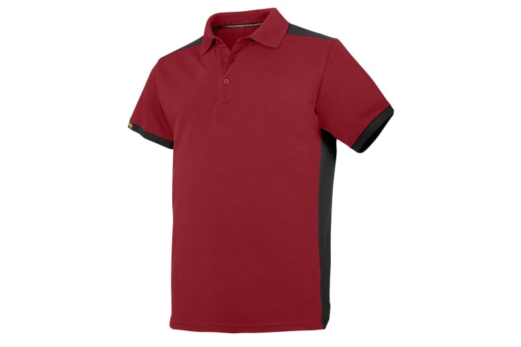Snickers Mens AllroundWork Short Sleeve Polo Shirt (Chilli Red/Black) (S)
