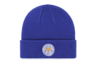 Leicester City FC Official Cuff Knitted Hat (Blue)