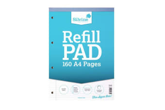 Silvine A4 Refill Pad Narrow Feint & Margin (6 Pack of 80 Sheets) (Narrow Lines) (One Size)