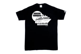 Ocean Bound Sailing Tee - Cruising Through Retirement Mens T-Shirt