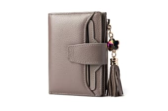 Short Wallet Women Small Purse Lady Wallets Quality Retro Female Coin Purses Card Holder Grey