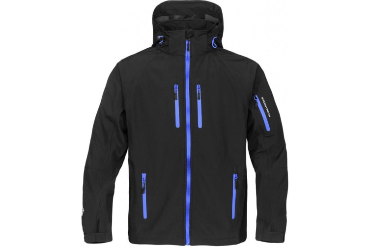 Stormtech Mens Expedition Softshell Breathable Waterproof Jacket (Black/Blue) (M)