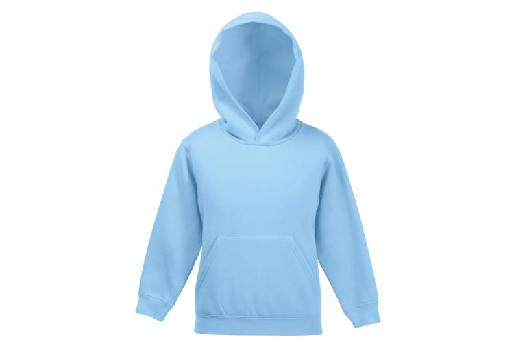 Fruit Of The Loom Kids Unisex Premium 70/30 Hooded Sweatshirt / Hoodie (Sky Blue) (14-15 Years)