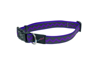 Hemm & Boo Zigzag Adjustable Dog Collar (Purple)