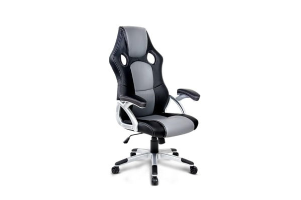 PU Leather Racing Style Office Chair (Black/Grey)