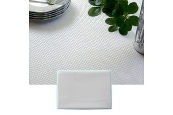Prestige Jacquard White Table Cloth 180 x 360 cm