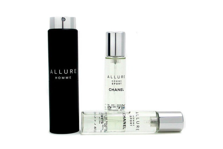 Chanel Allure Homme Sport Eau De Toilette Travel Spray (With Two Refills) 3x20ml