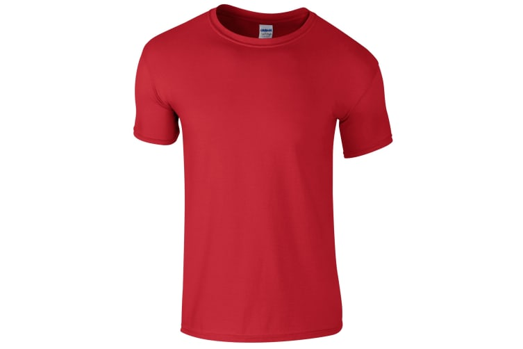 Gildan Childrens Unisex Soft Style T-Shirt (Pack Of 2) (Red) (XS)
