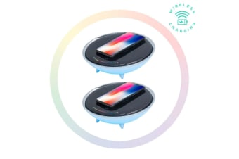 2x Activiva Wireless Charging Stand w/ RGB Colour Changing Base