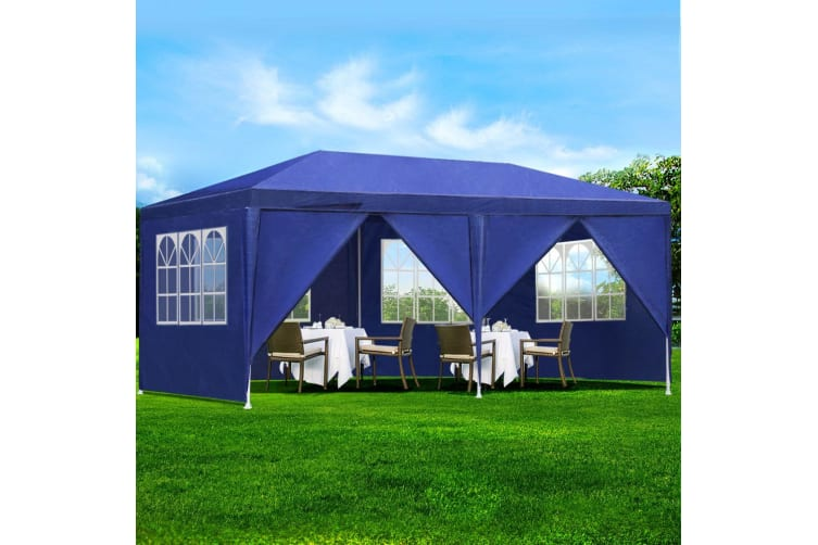 3x6 Outdoor Gazebos Party Wedding Marquee Tent Camping Blue