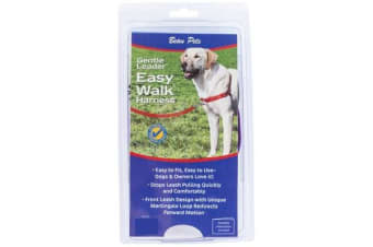 Gentle Leader Small/Medium Black Easy Walk Dog Harness (Beau Pets)