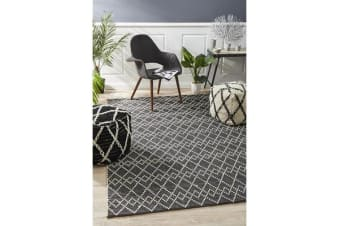Ryder Monochrome Wool Textured Rug