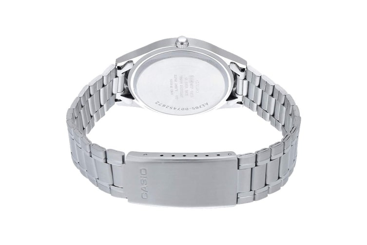 Casio Analog Vintage Stainless Steel Watch - Silver/White (MTP1128A-7A)