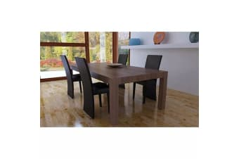 vidaXL Dining Room Chairs 4 pcs Dark Brown