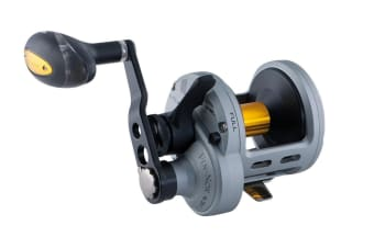 Fin-Nor Lethal 2 Speed Overhead Fishing Reel with Lever Drag-6 Stainless Bearings [Model: LTL II 16]