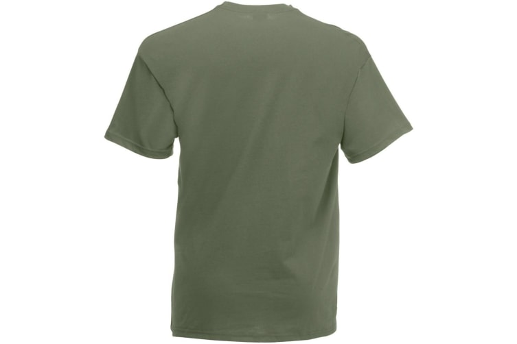 Fruit Of The Loom Mens Valueweight Short Sleeve T-Shirt (Classic Olive) (2XL)