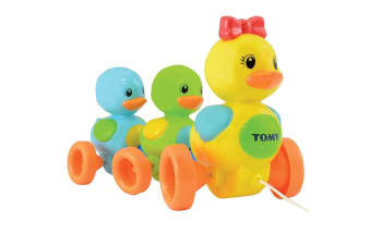 Tomy Quack Along Ducks w/ Sounds/Push-Pull Along for Toddler/Baby/Kids Toy Fun