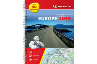 Europe 2019 - Tourist and Motoring Atlas (A4-Spirale) - Tourist & Motoring Atlas A4 spiral