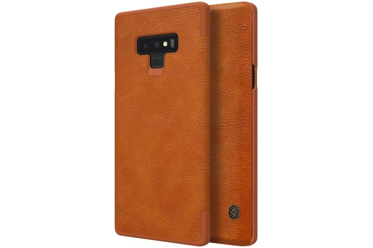 For Samsung Galaxy Note 9 Case Modern Wild Horse Leather Wallet Cover Brown