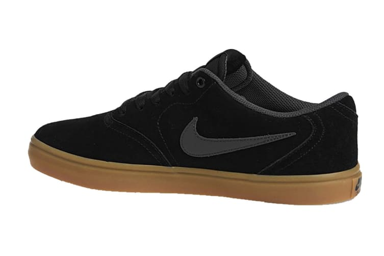 Nike SB Check Solarsoft Men's Skateboarding Shoe (Black/Anthracite/Brown, Size 8 US)