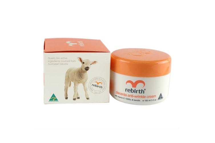 Lanopearl Rebirth Original Placenta Anti-Wrinkle Cream With Vitamin E & Lanolin 100ml